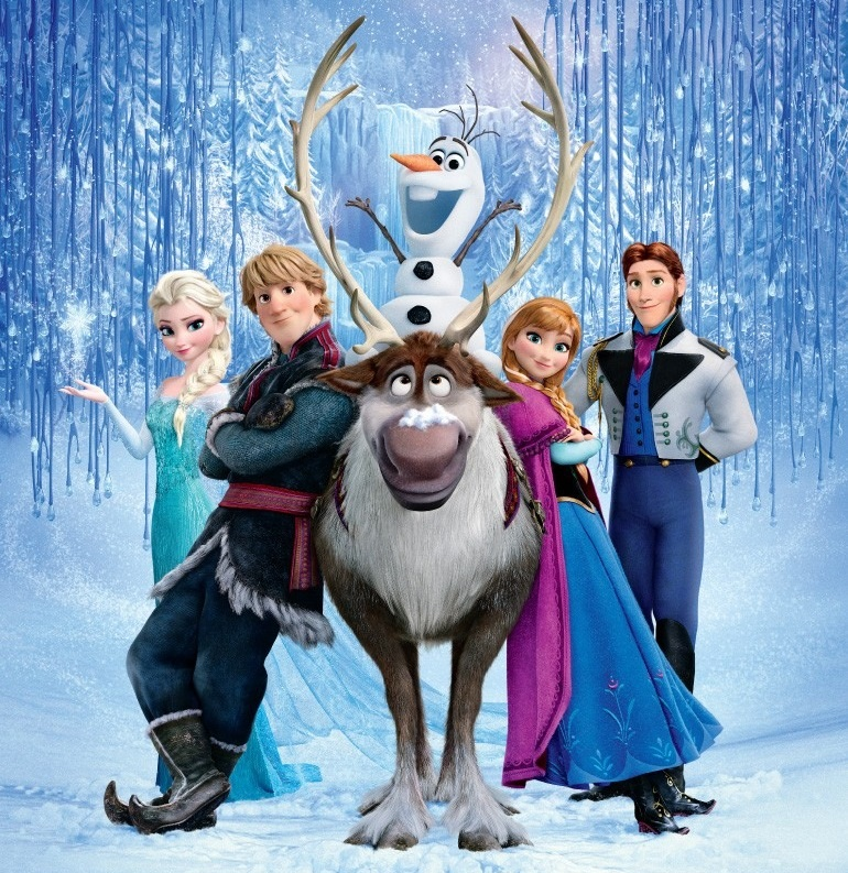 This movie looks like it's about a wacky snowman, his reindeer pal, and a supporting cast of human characters.