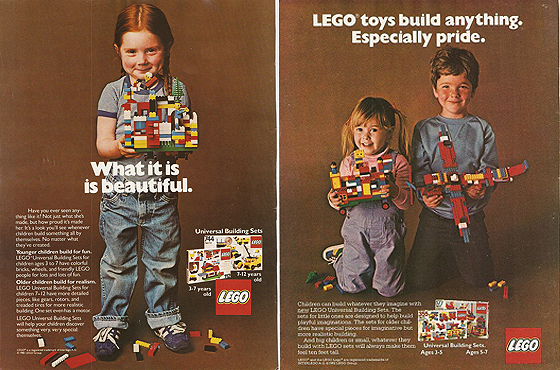 Feminist propaganda Lego advertisement from the 1970s