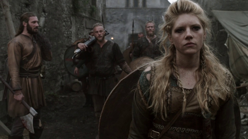 "This is Lagertha's ""yo I just killed a guy who tried to rape me"" face. She uses it quite a lot."